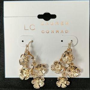 Lauren Conrad gold tone earrings